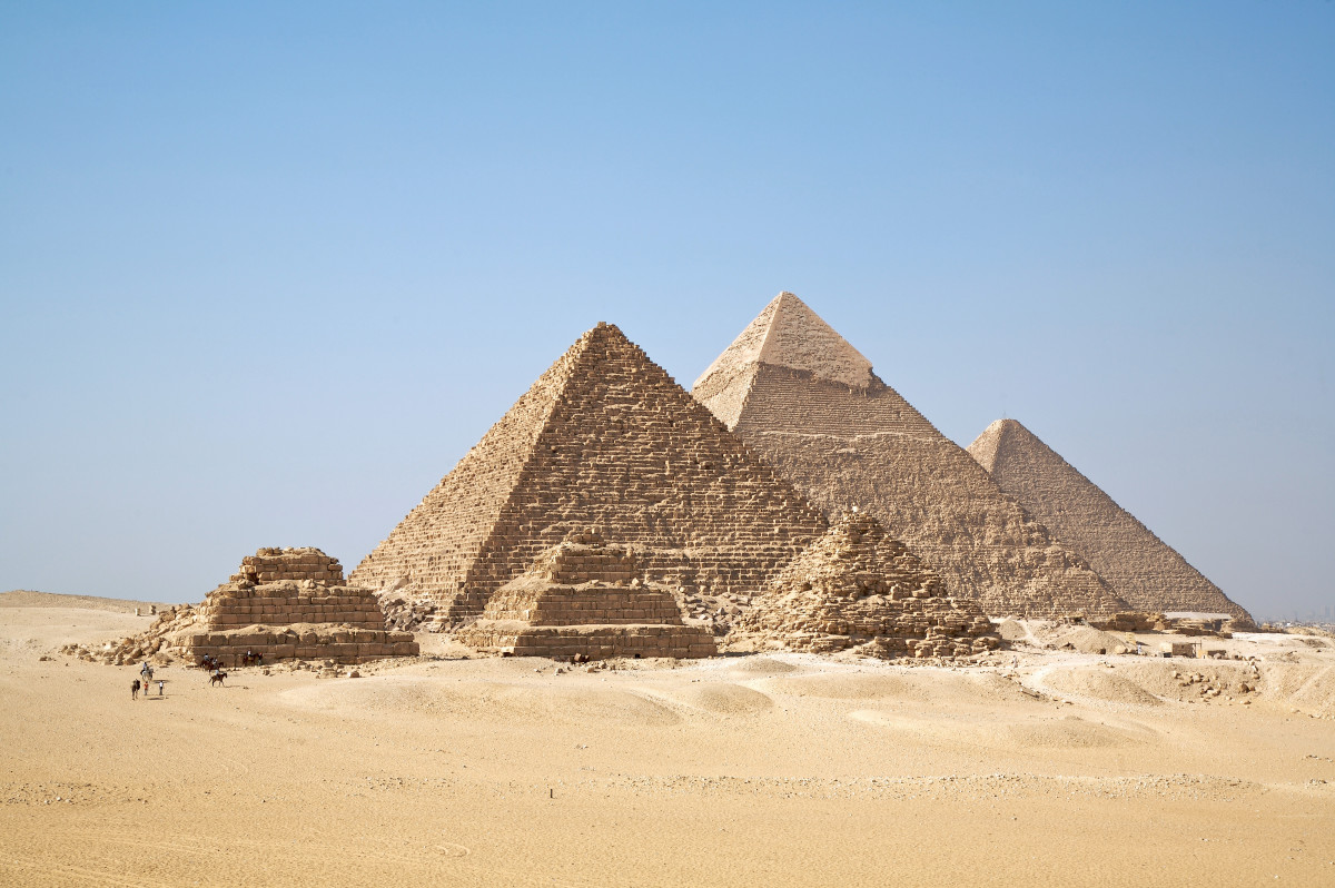 The Gizah Pyramids are some of the most famous pyramids ever built.