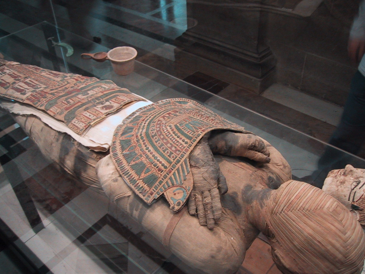 Mummies are often within a very ornate covering.