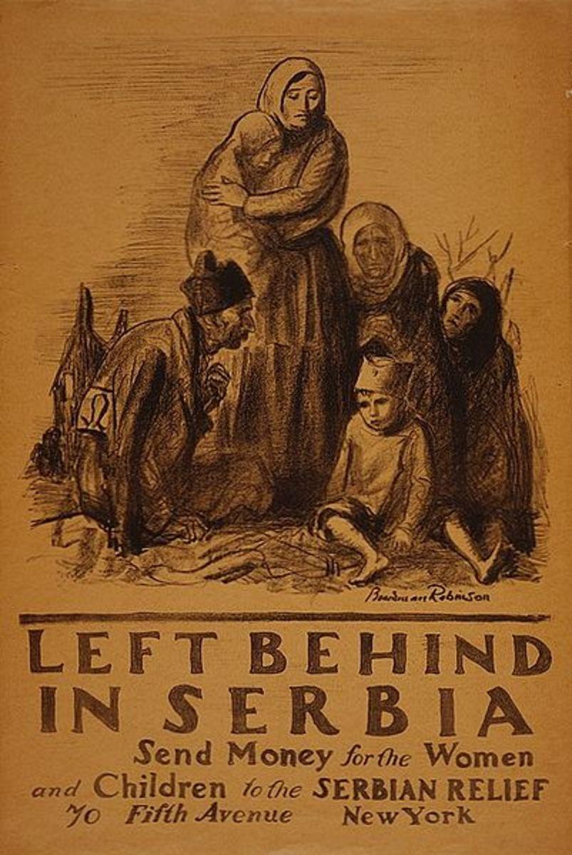 A pitiful scene to appeal to kind American hearts.  Artist:  Boardman Robinson c. 1918.