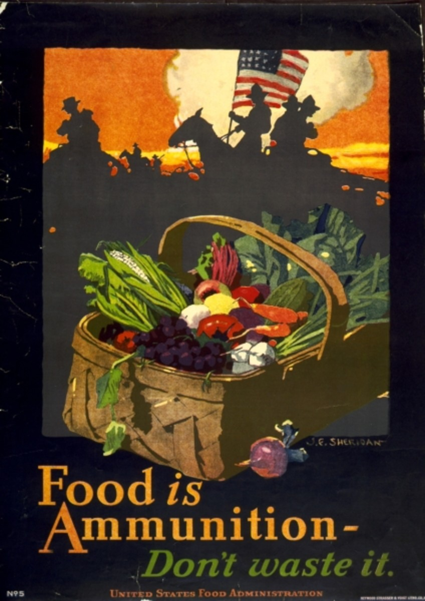 By John E Sheridan (illustrator) for United States Food Administration (Scan of 1918 Poster) [Public domain], via Wikimedia Commons