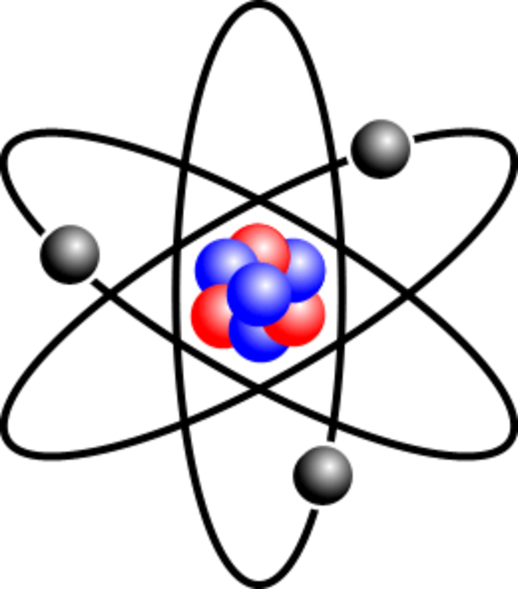 A stylised Lithium atom. Whilst this is instantly recognisable as an atom, no atom actually looks like this!