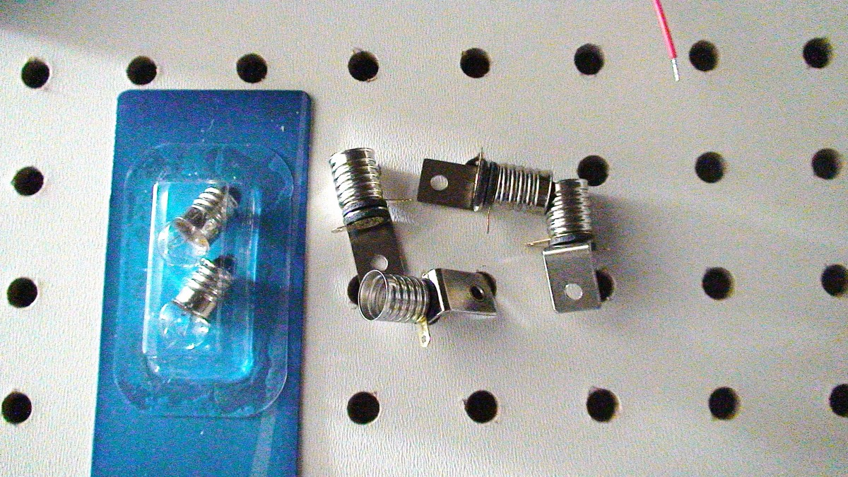 Nuts and bolts; light bulbs (a load) to fit the holders