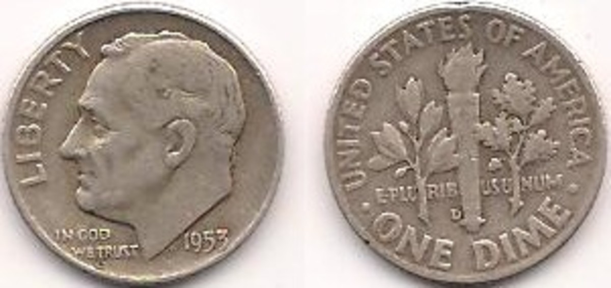 FDR's image has been on the dime since his death in 1945, to commemorate the millions raised by the March of Dimes campaigns for polio research and treatment.