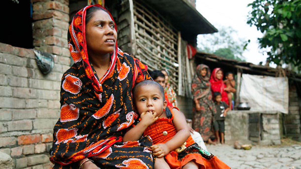 Rukhsar Khatoon has the last case of polio detected in India, pictured here with her mother Shabida Bibi in Shahapar village, West Bengal.