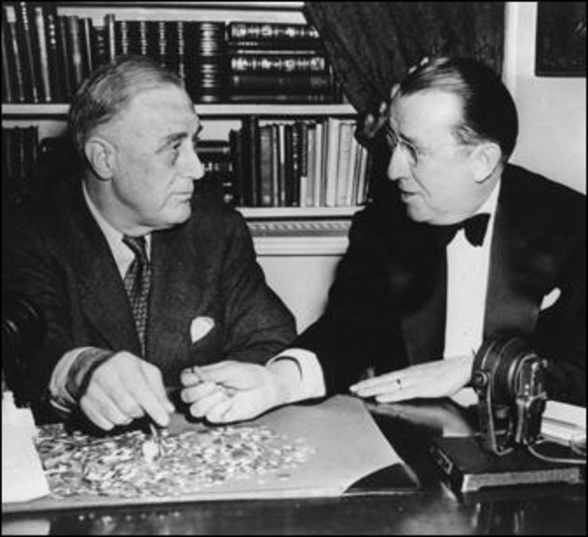 FDR with O'Connor, who was at first reluctant to take on this project, then quickly became dedicated to it.