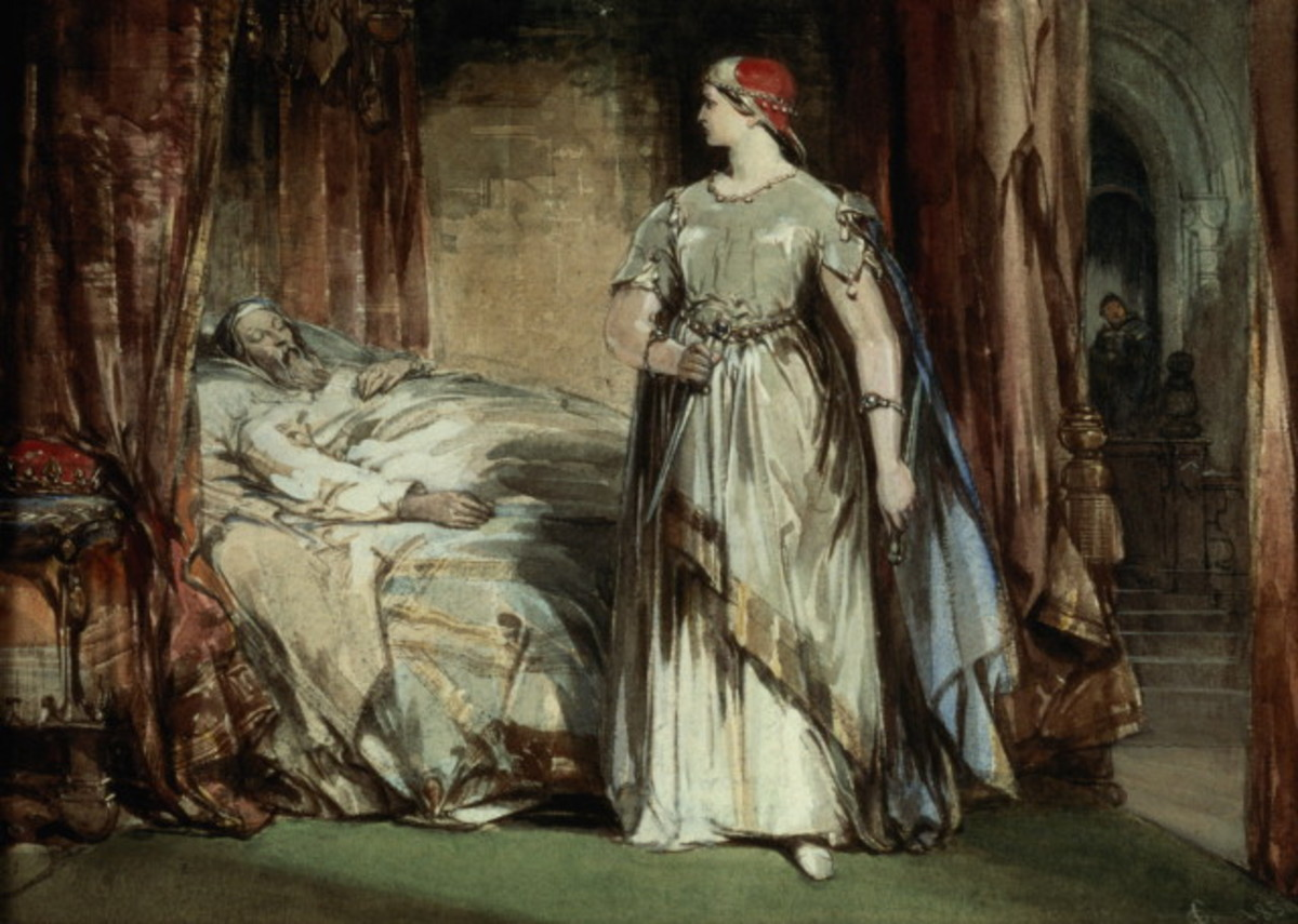 Lady Macbeth after the murder of  King Duncan