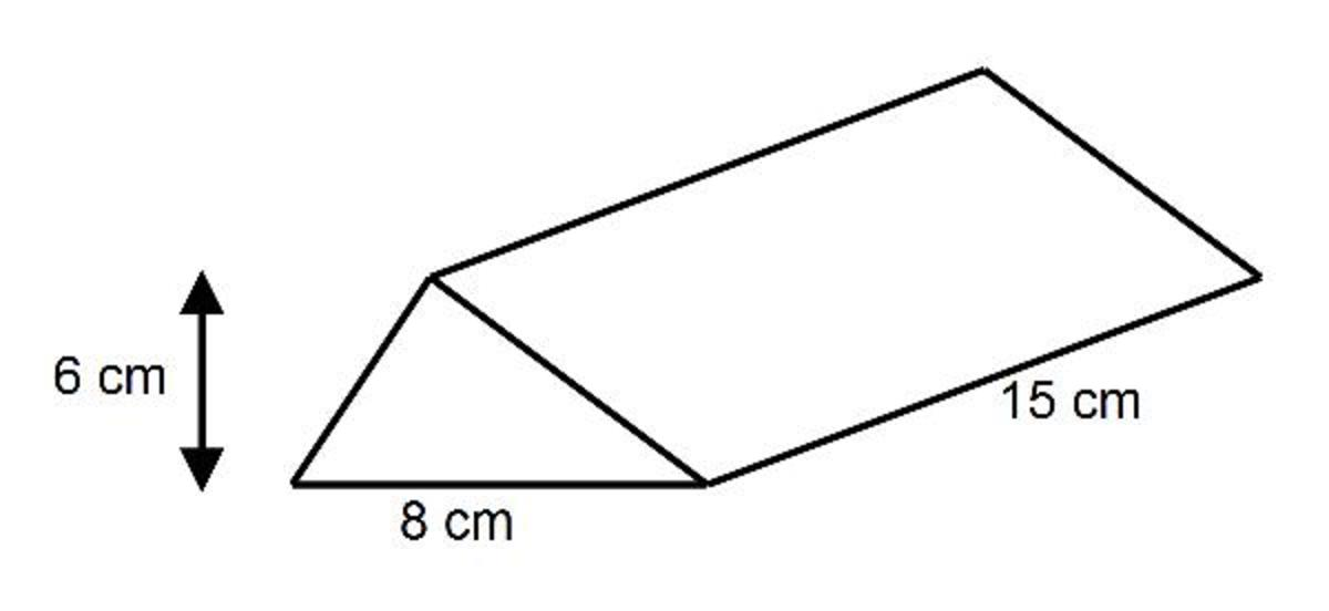 In this second example, we need to calculate the mass of this triangular prism.