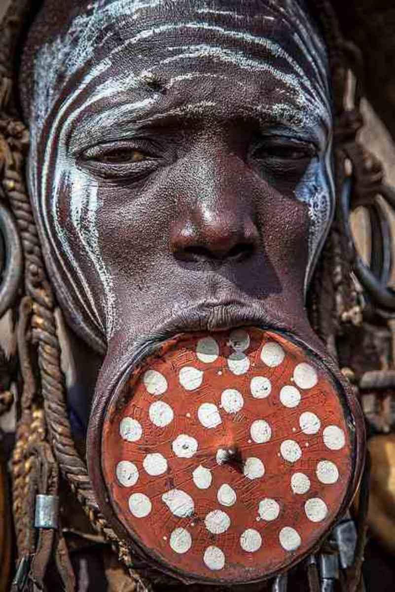 Mursi Tribe Lip Plugs