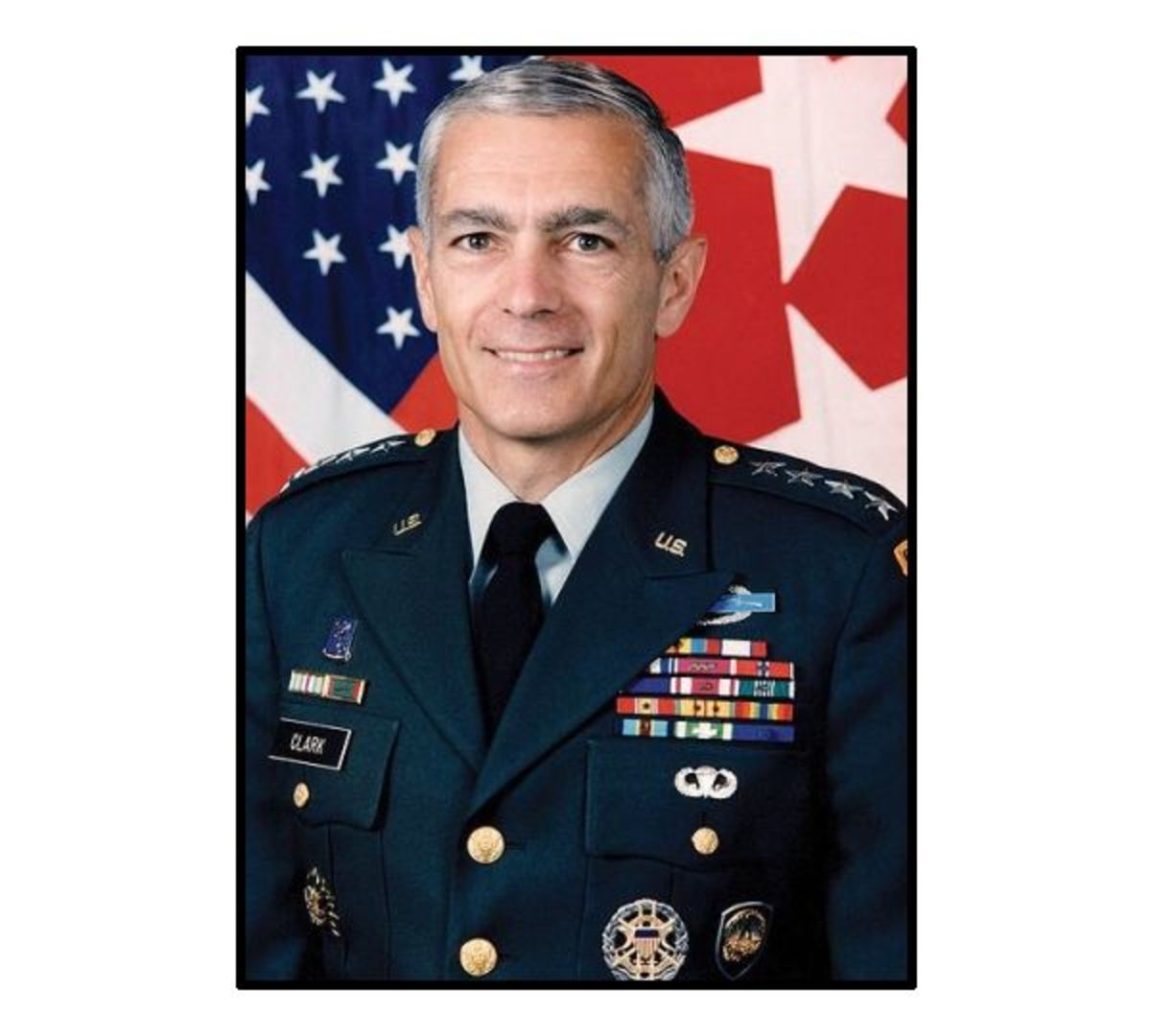 Military photo portrait of U.S. General Wesley Clark
