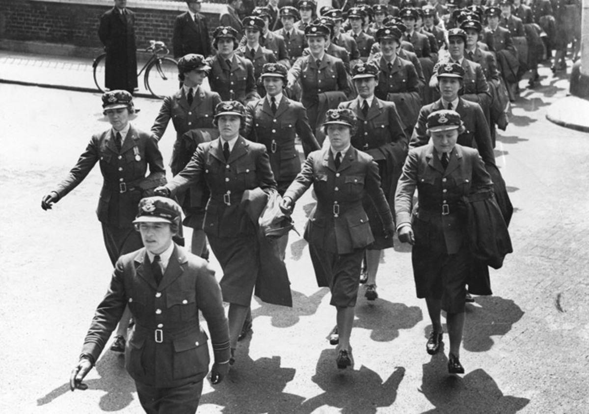 Women in World War Two had to learn to march as well