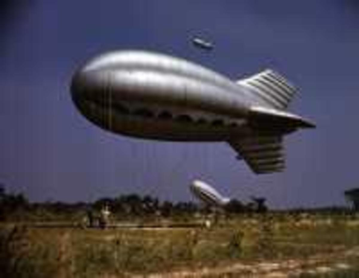 Second World War barrage balloon