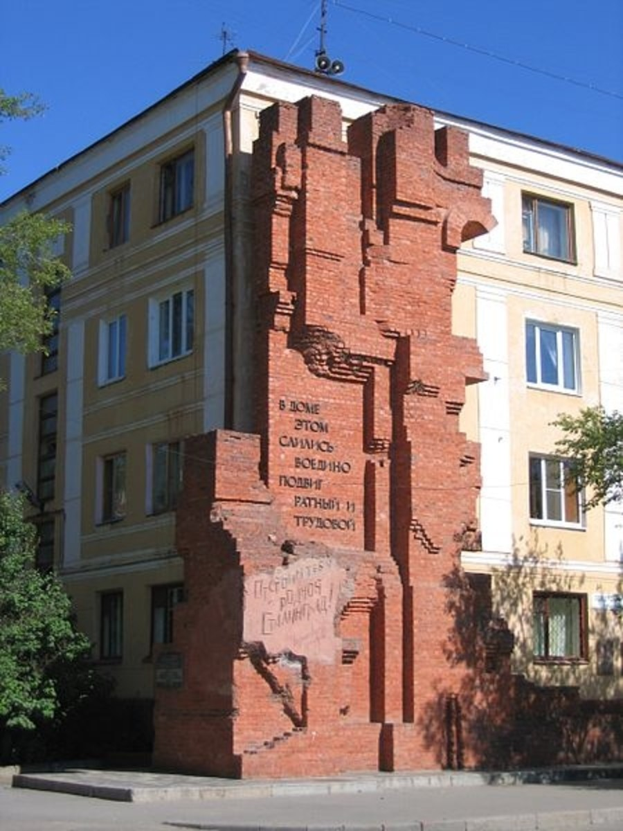 Dom Pavlova (Pavlov's House) in Volgograd (formerly Stalingrad), Russia. 2006.