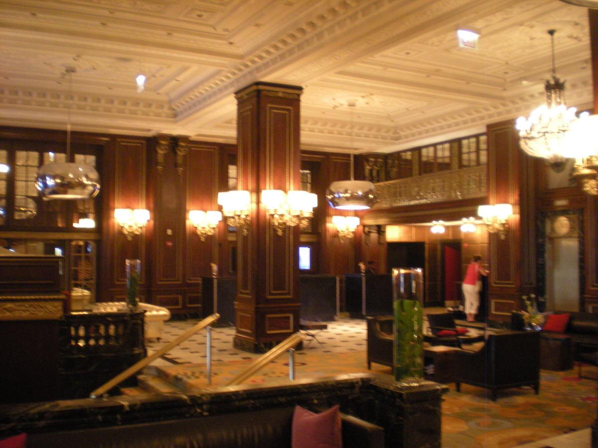 Blackstone Hotel lobby, 2012.