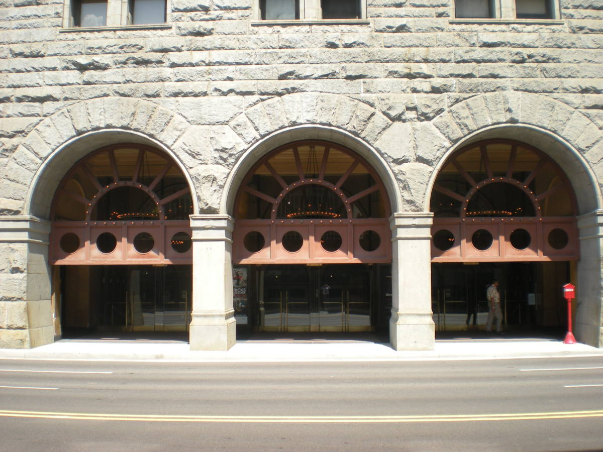 Auditorium Theater entrance on Congress Parkway, August 2012.