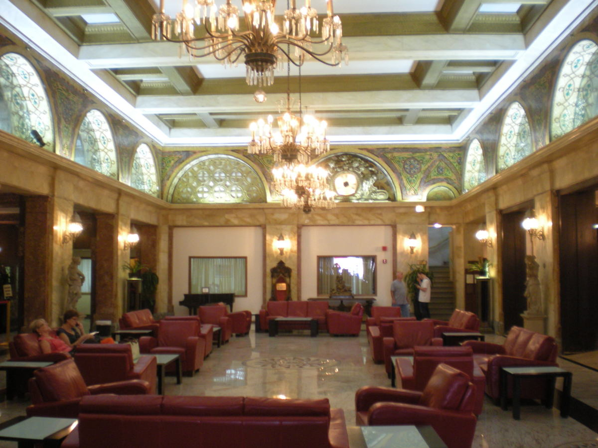 Lobby of the Congress Plaza Hotel, August 2012.