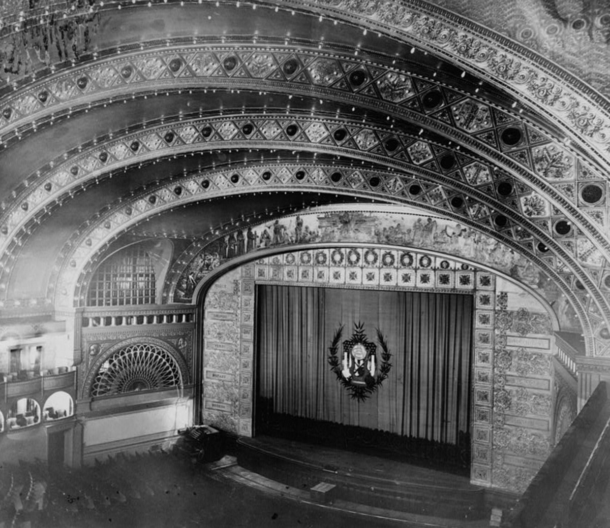 Interior of the Auditorium Theater, 1963.