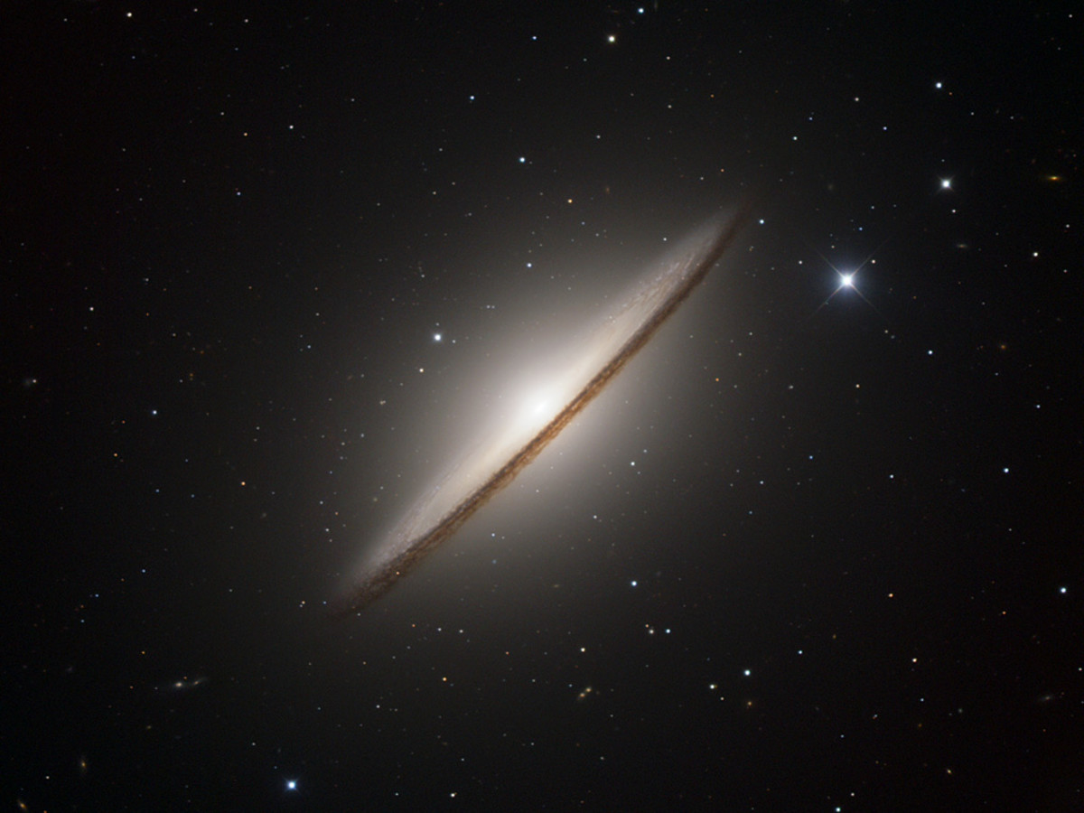 The Sombrero Galaxy, located 30 million light years away.