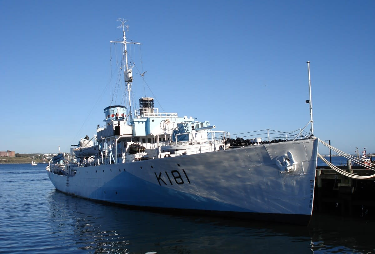 RCN Sackville, a restored corvette from WW2, now part of the Naval Museum in Halifax, Canada.
