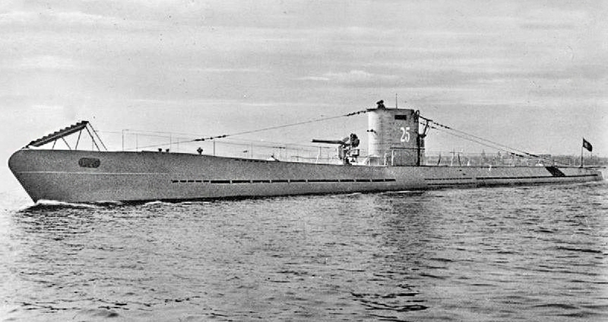 The U-25 U-boat around 1936.