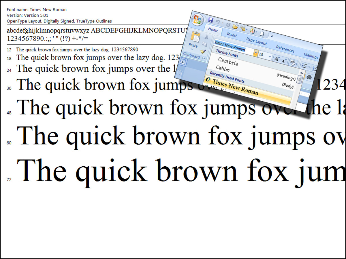 Times New Roman font - Use 12 pt.