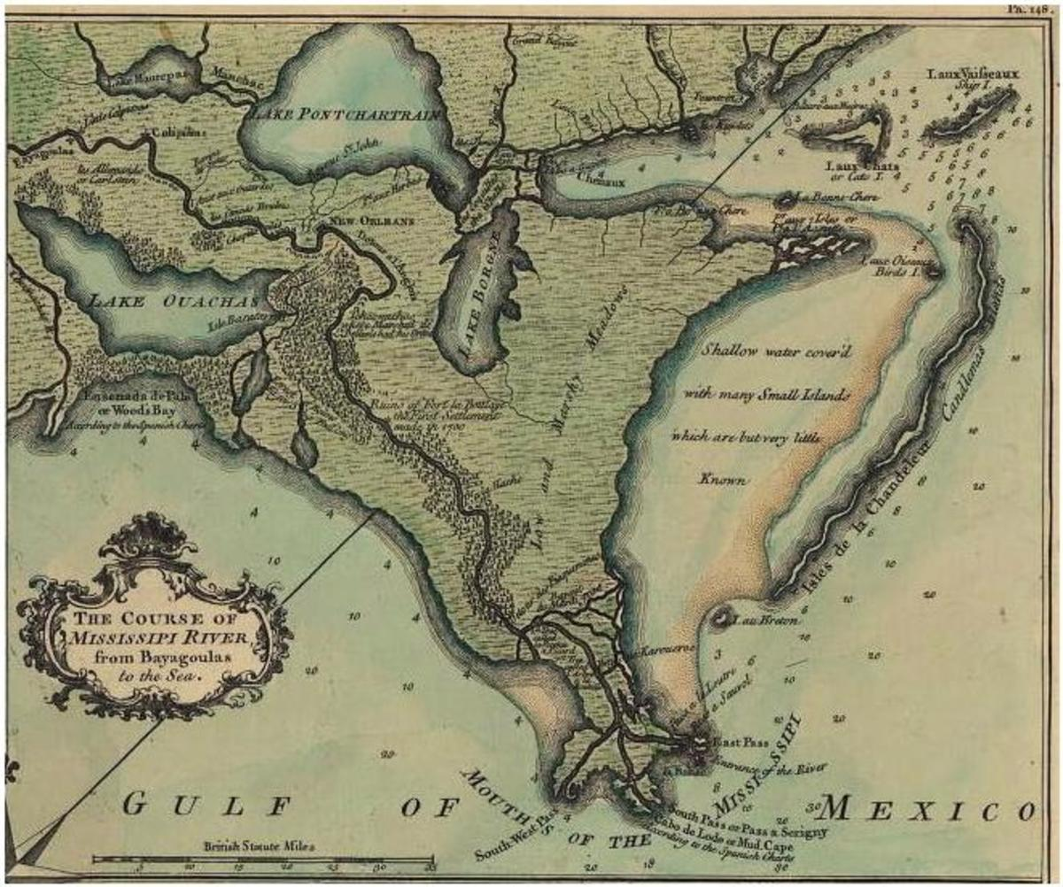 1759 DE LA TOUR MAP OF NEW ORLEANS