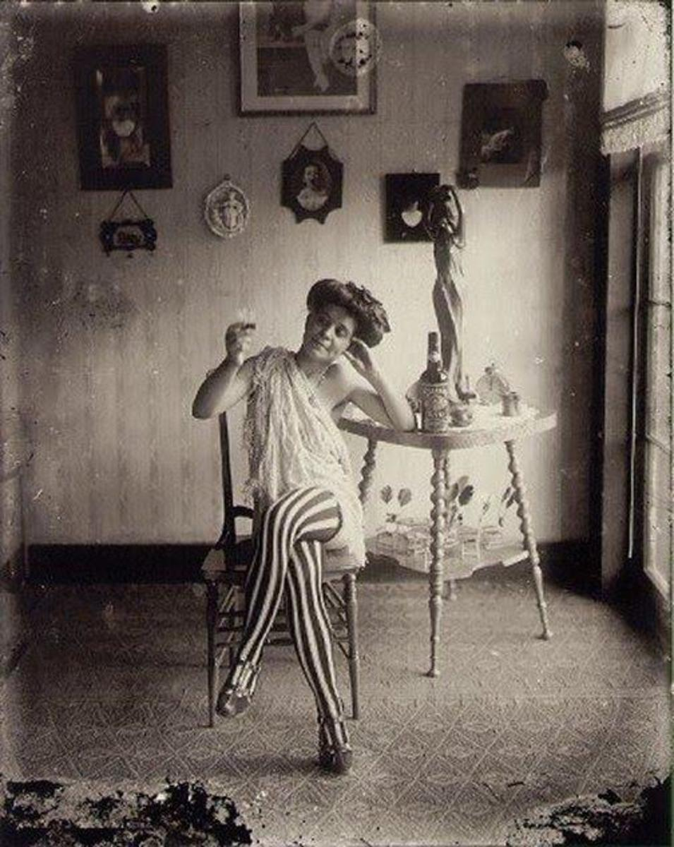 A LADY OF THE NIGHT IN STORYVILLE, NEW ORLEANS