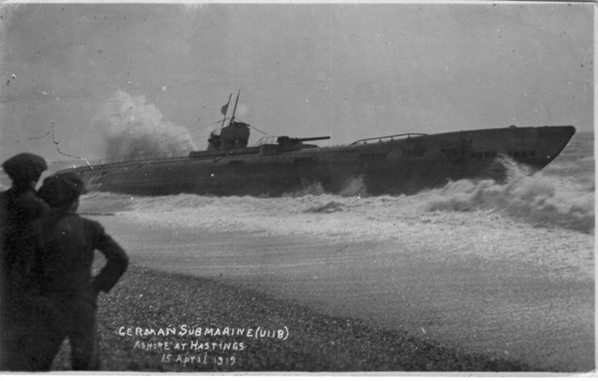 World War One: U-118 newly arrived at Hastings