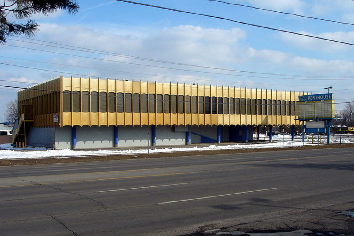 Quo Vadis Entertainment Center in Westland, MI, demolished 2011.