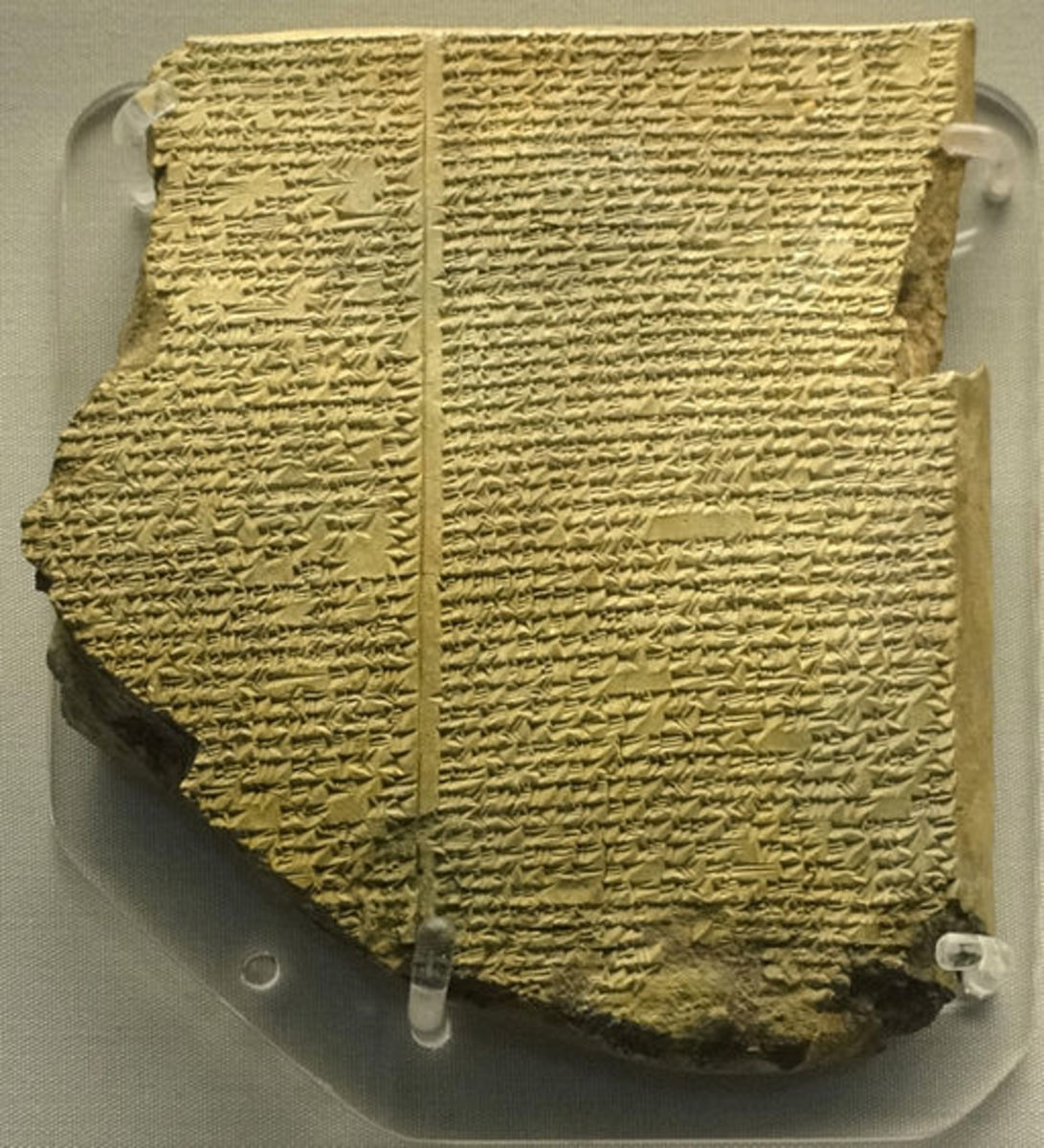 The cuneiform clay tablet holding the story of Uta-Napishti, who survived the Deluge. It was written over a thousand years before the Bible.