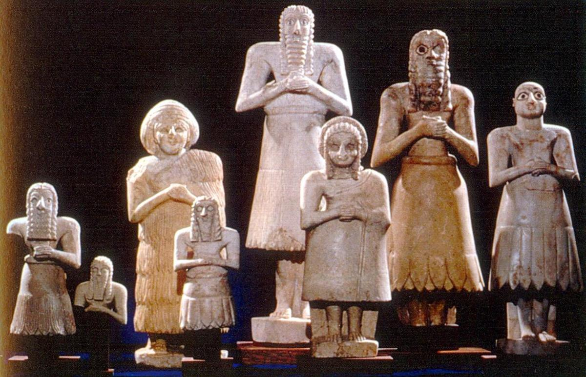 The Sumerian pantheon may have included as many as 3600 deities.