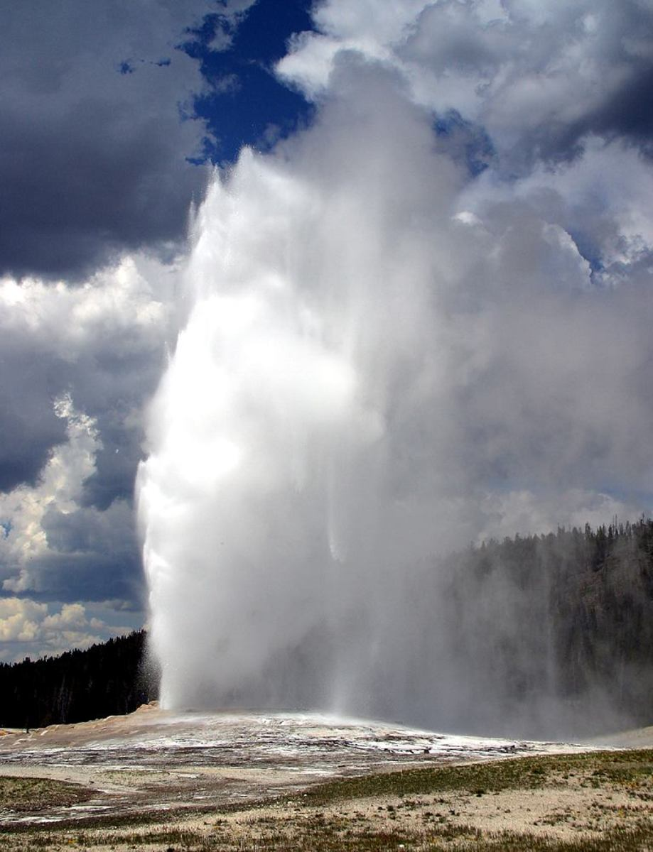 Old Faithful, a geyser that erupts about once every 91 minutes, is the most predictable geographical feature on Earth. It's also among the easiest to preserve: Just leave it alone.