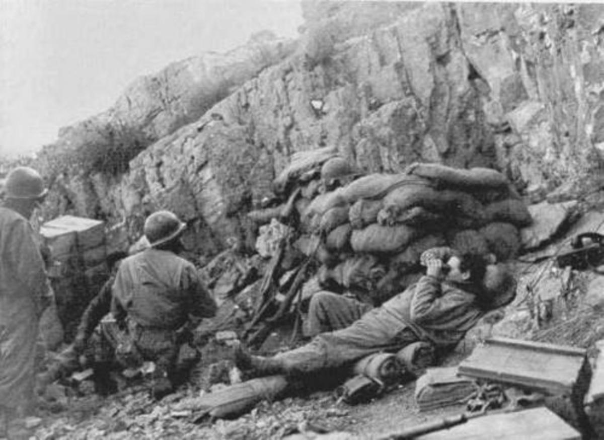 Artillery observer in Italy