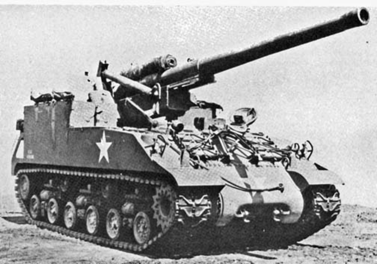 The M40 155mm Gun Motor Carriage. Very few saw action before the end of the war. Their use became widespread in Korea.