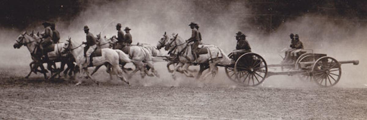 Artillery team in the 1920s