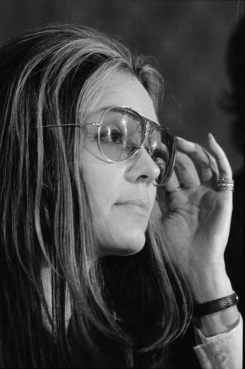 Gloria Steinem was an eminent journalist and editor of Ms. magazine. She followed the rules of usage to the letter.