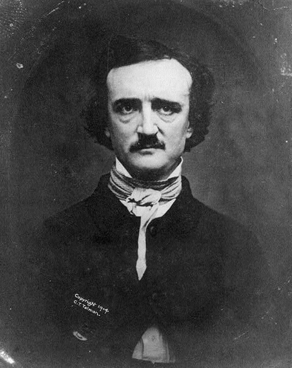 """Edgar Allan Poe was nearly bankrupt until the publication of """"The Raven."""" He was never broke."""