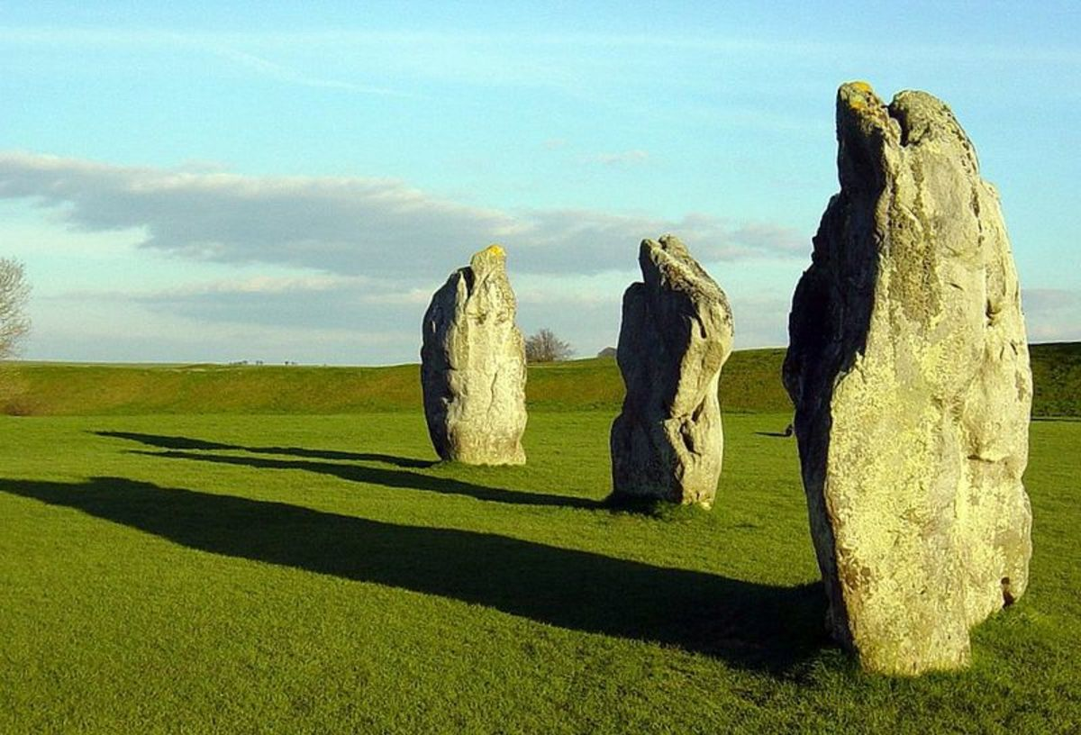 "Original image caption: ""Quiet day in Wiltshire."" Image from Avebury Henge."
