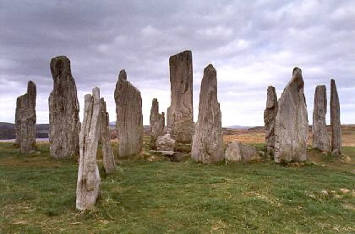 The Callanish Stones in Scotland, an eerie reminder of a long ago culture.