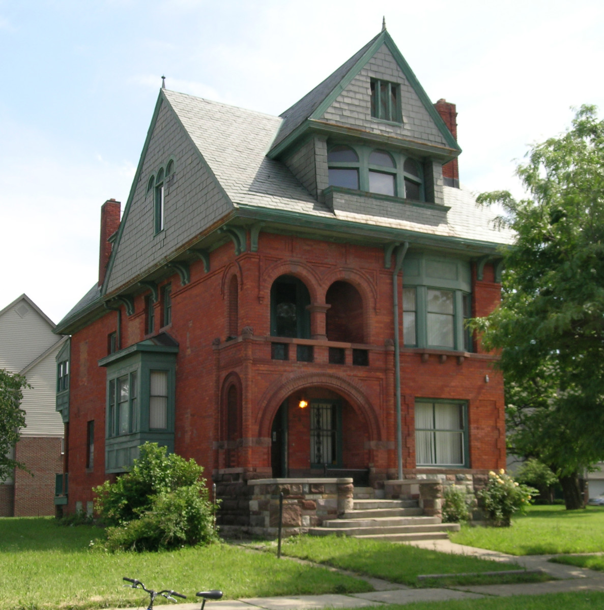 Historic Dunbar Hospital in Detroit, MI, listed on the US National Register of Historic Places.