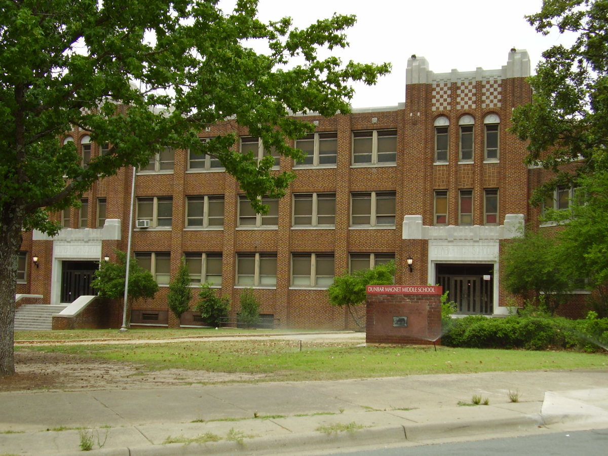 Dunbar Gifted & Talented Education International Studies Magnet Middle School, a magnet middle school for students in grades 6 through 8, Little Rock, Arkansas.