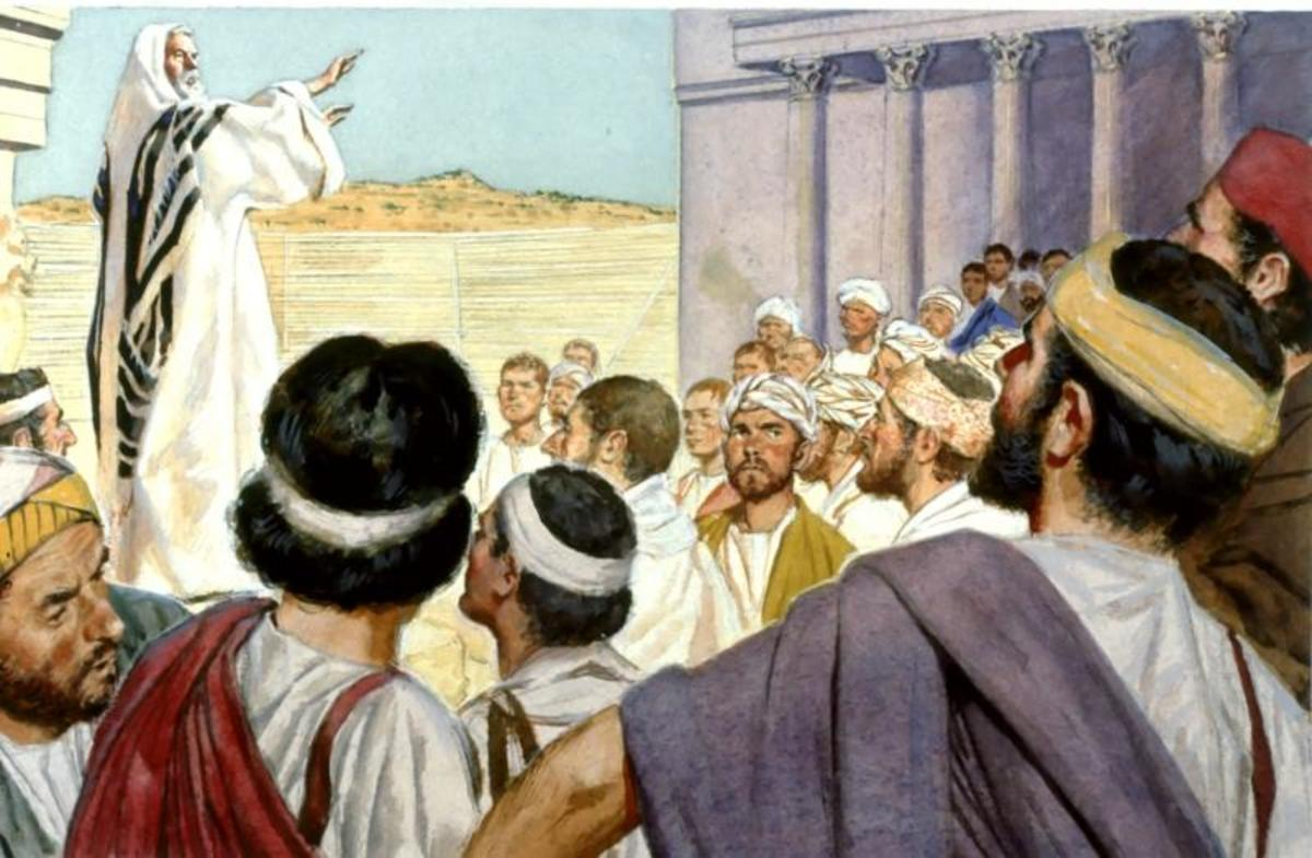 The city clerk quiets the rioting crowd in Ephesus (Acts 19: 35–41).