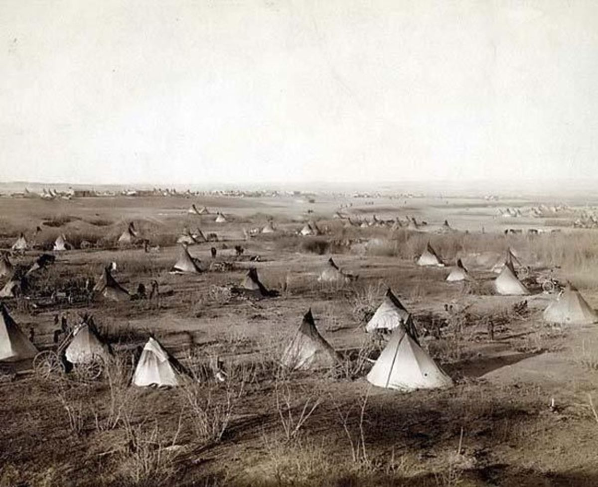 Typical Sioux village in the 19th Century.