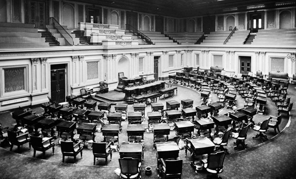 US Senate Chamber in the 1870s