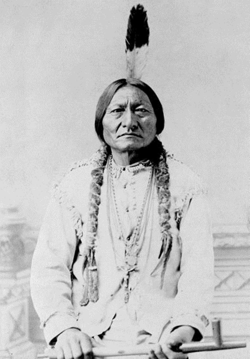 Chief Sitting Bull, Hunkpapa Sioux  (Photographer was David Barry)
