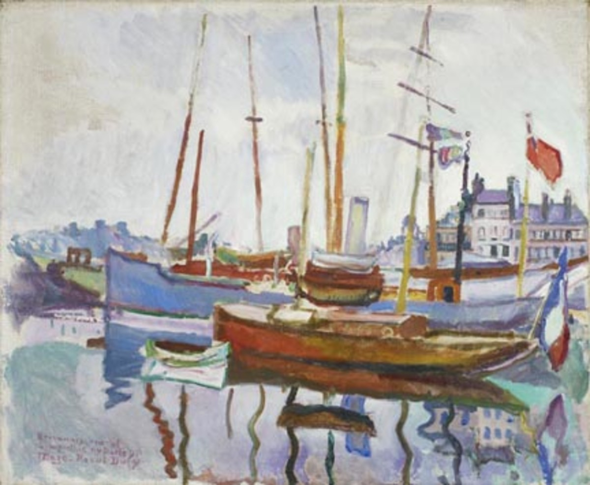Raoul Dufy, Port du Havre (unkown date) 61x73cm, oil on canvas. Art Gallery of Ontario.
