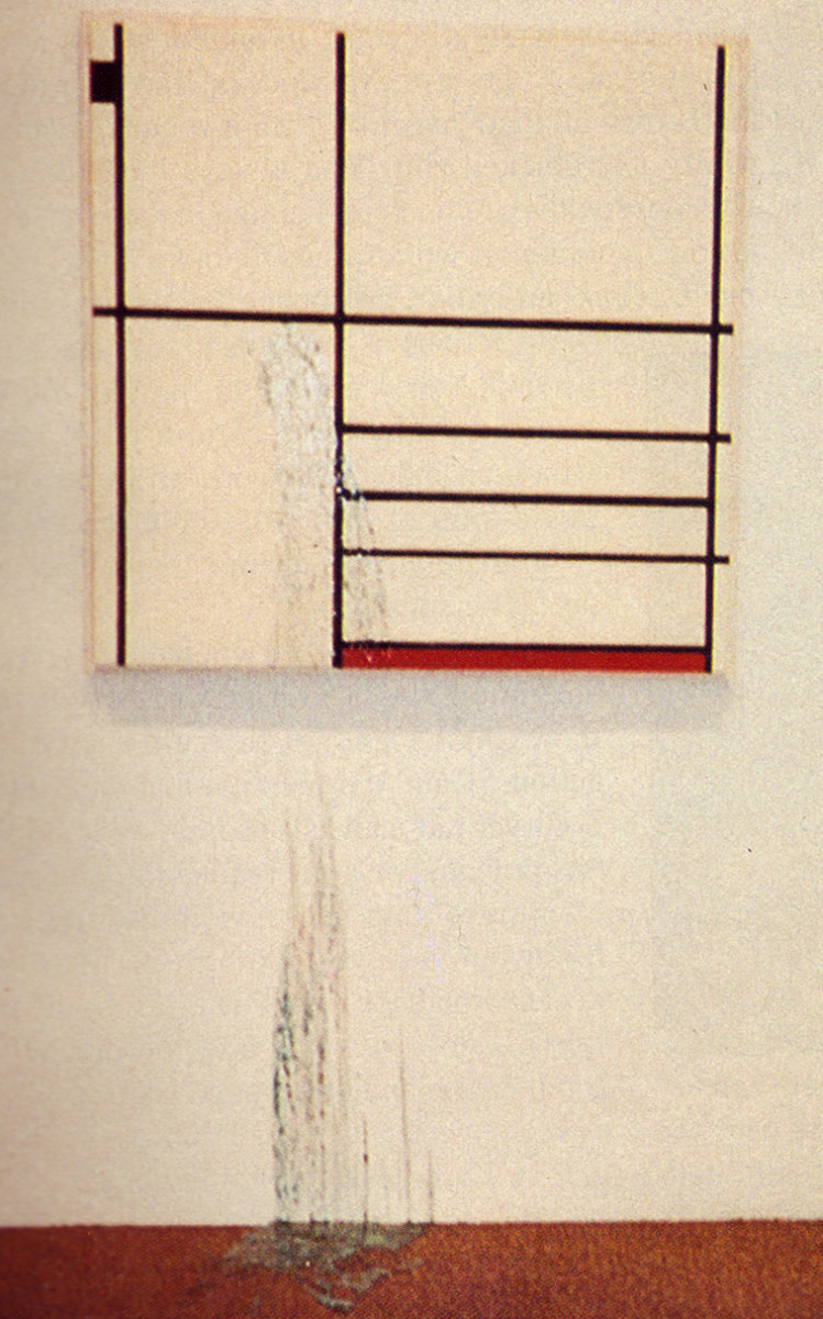 Composition in White, Black and Red (1936) with blue vomit from Jubal Brown.