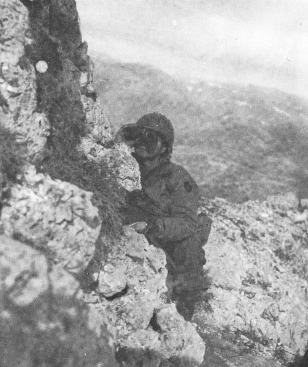 A forward observer in Italy.