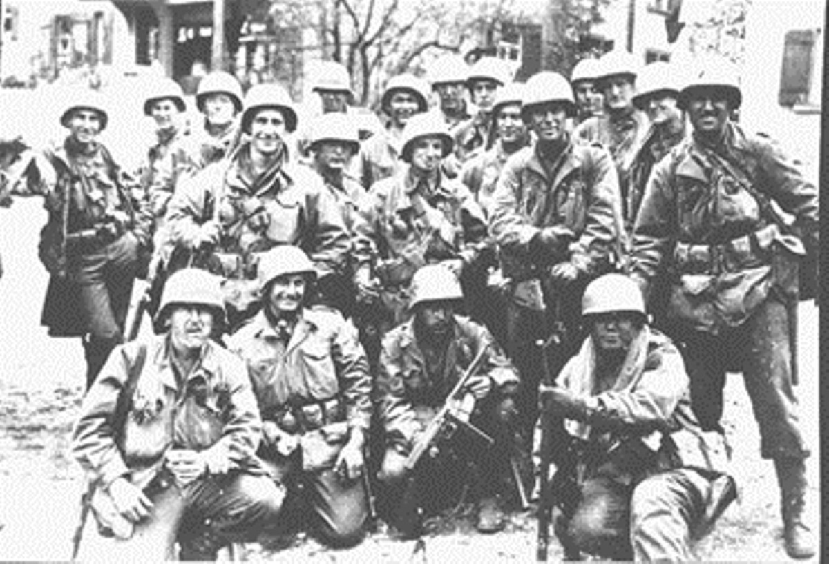 Men from A Company, 253rd Infantry Regiment.