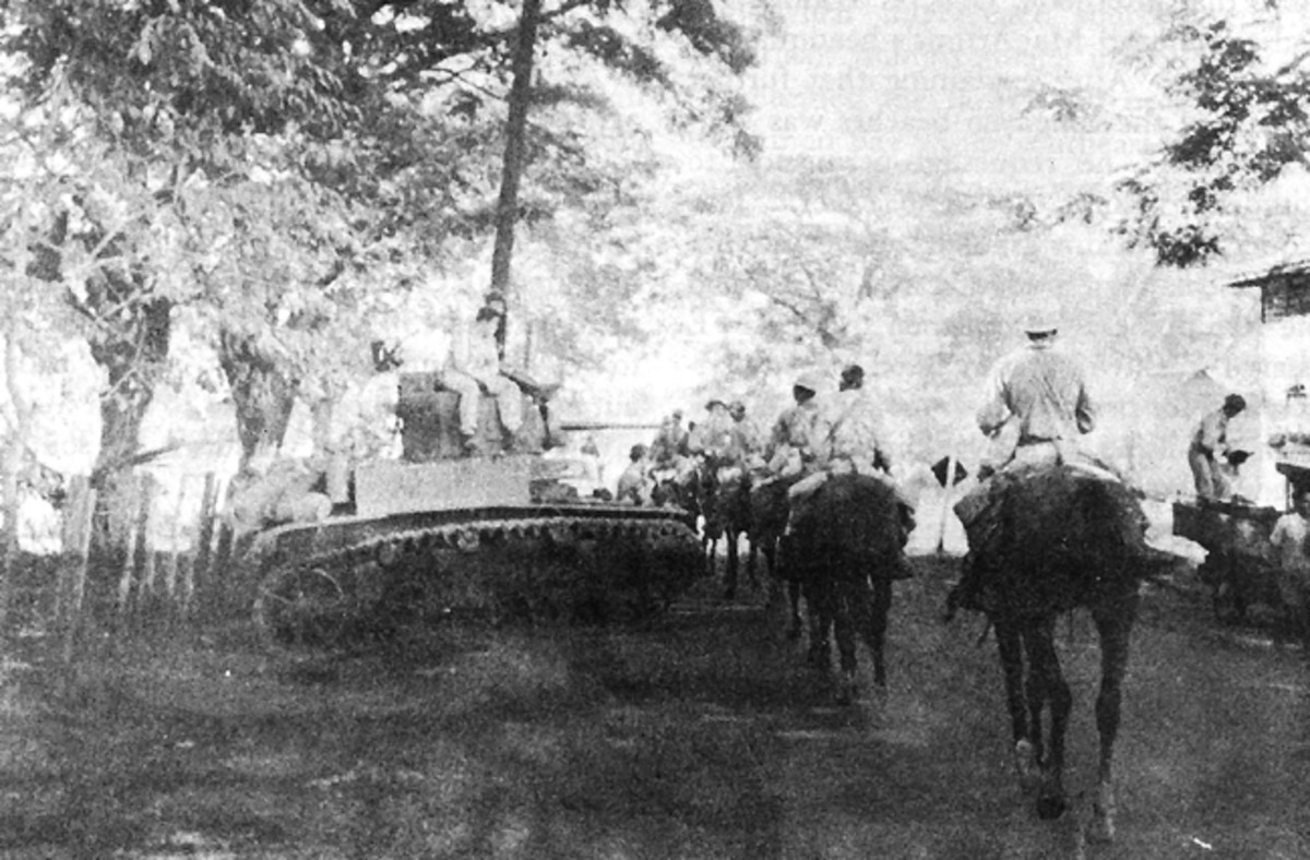 Philippine Scouts on the move in early 1942.