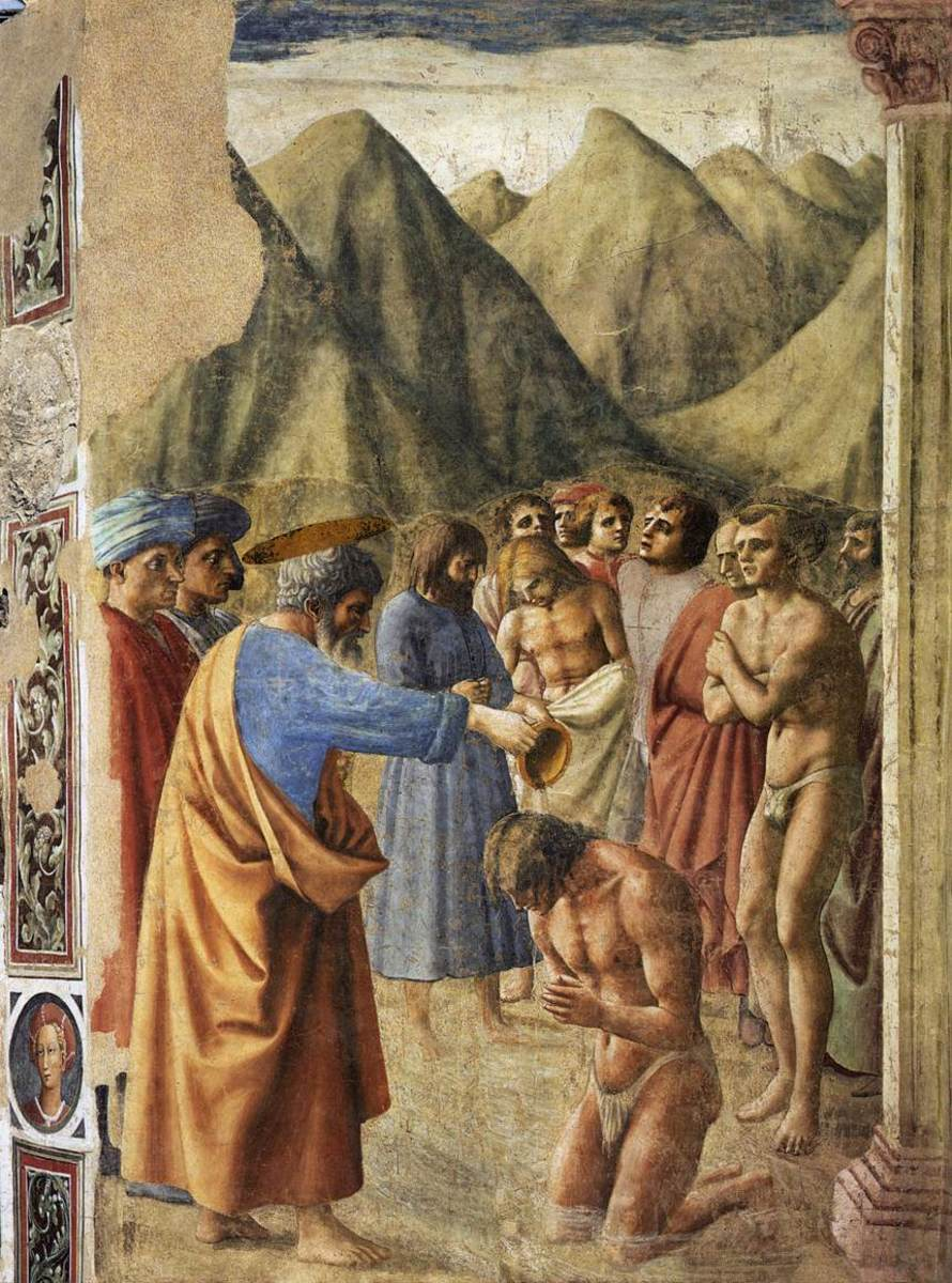 Masaccio's Baptism of the Neophytes.